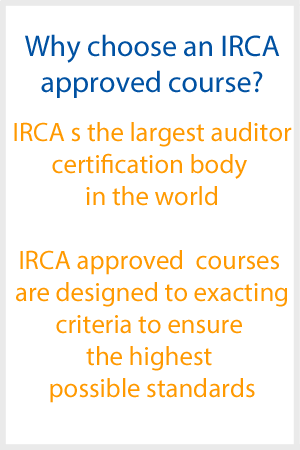 Why choose IRCA approved course